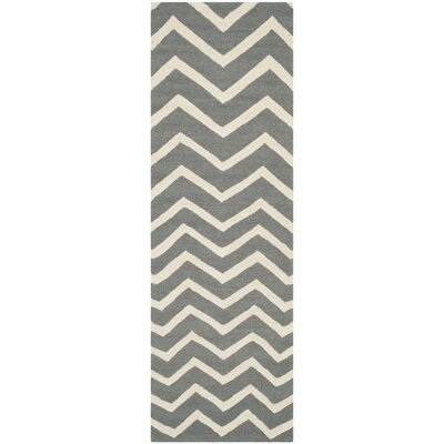 Charlenne Dark Gray Area Rug Rug Size: Rectangle 26 x 4