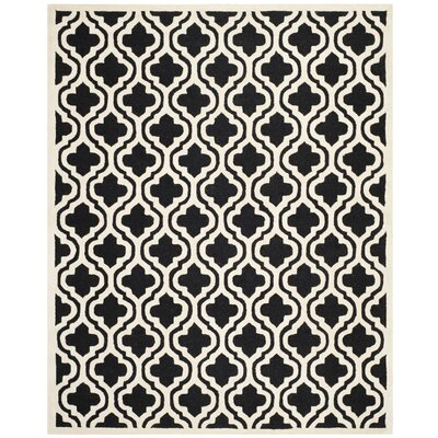 Martins Black Area Rug Rug Size: 6 x 9