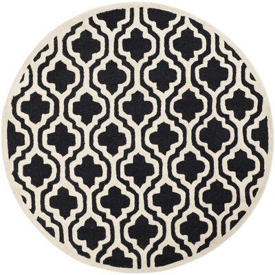 Martins Black Area Rug Rug Size: Rectangle 5 x 8