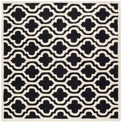 Martins Black Area Rug Rug Size: Square 10