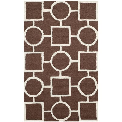 Martins Dark Brown Area Rug Rug Size: 5 x 8