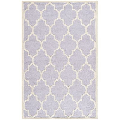 Charlenne Lavender/Ivory Area Rug Rug Size: Rectangle 6 x 9
