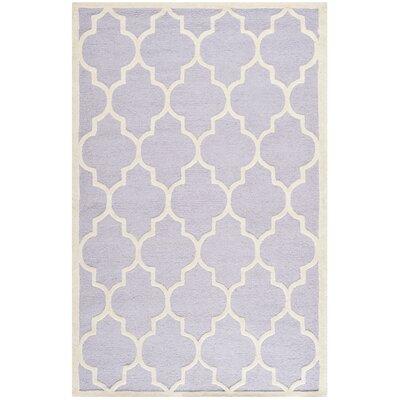 Charlenne Lavender/Ivory Area Rug Rug Size: 6' x 9'
