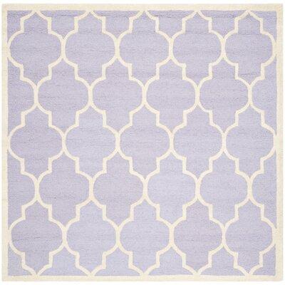 Charlenne Lavender/Ivory Area Rug Rug Size: Square 6'