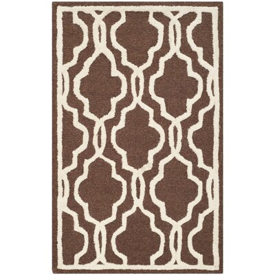 Martins Hand-Tufted Wool Dark Brown Area Rug Rug Size: Rectangle 6 x 9