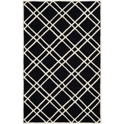 Martins Black/Ivory Area Rug Rug Size: 5 x 8