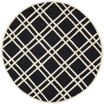 Martins Hand-Tufted Wool Area Rug Rug Size: Round 6