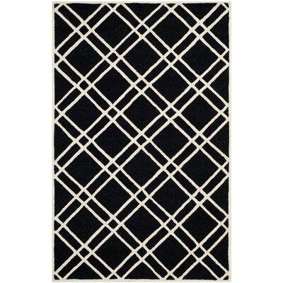 Martins Black Area Rug Rug Size: 8 x 10