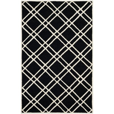 Martins Black Area Rug Rug Size: 9 x 12