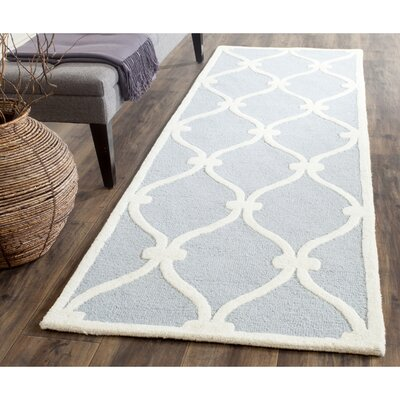Martins H-Tufted Wool Blue Area Rug Rug Size: Runner 26 x 8