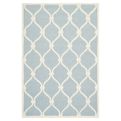 Martins Hand-Tufted Wool Blue/Ivory Area Rug Rug Size: Rectangle 3 x 5