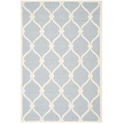 Martins Hand-Tufted Wool Blue/Ivory Area Rug Rug Size: Rectangle 6 x 9