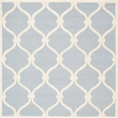 Martins H-Tufted Wool Blue Area Rug Rug Size: Square 8