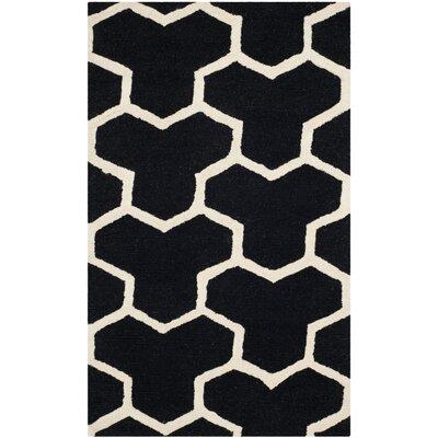 Martins Black Area Rug Rug Size: 8' x 10'