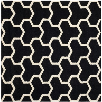 Martins Black Area Rug Rug Size: Square 8'