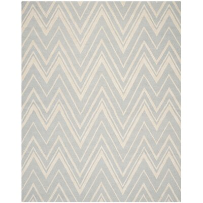 Martins Hand-Tufted Wool Gray/Ivory Area Rug Rug Size: Rectangle 9' x 12'