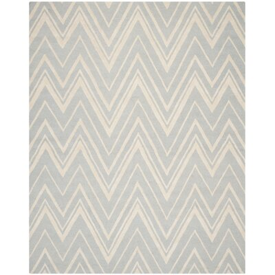 Martins Gray & Ivory Area Rug Rug Size: 6 x 9