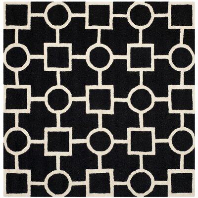 Martins Black Area Rug Rug Size: Square 8'