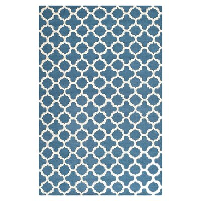 Martins Navy/Ivory Area Rug Rug Size: Rectangle 26 x 4
