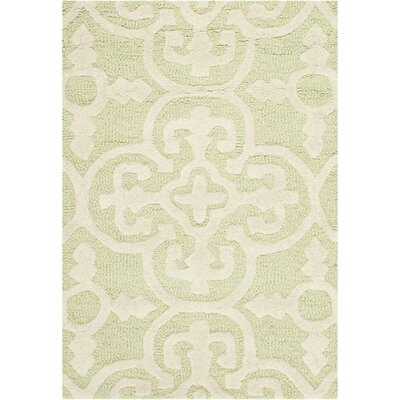 Martins Light Green/Ivory Area Rug Rug Size: 2 x 3
