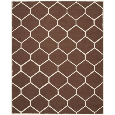 Martins Hand-Tufted Wool Dark Brown Area Rug Rug Size: Rectangle 2 x 3