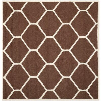 Martins Dark Brown Area Rug Rug Size: Square 6