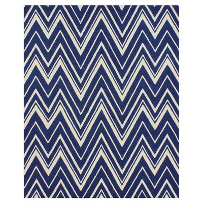 Martins Navy & Ivory Area Rug Rug Size: 4' x 6'