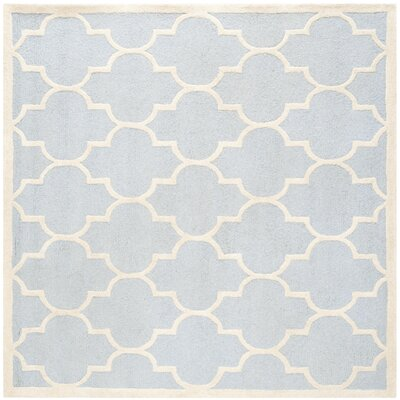 Charlenne Light Blue/Ivory Area Rug Rug Size: Square 8