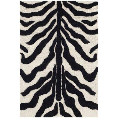 Martins Ivory/Black Area Rug Rug Size: 3 x 5