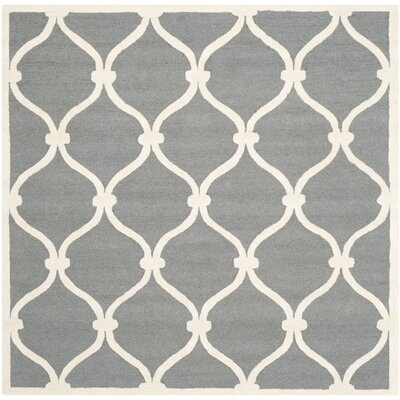 Martins Dark Gray Area Rug Rug Size: Square 6