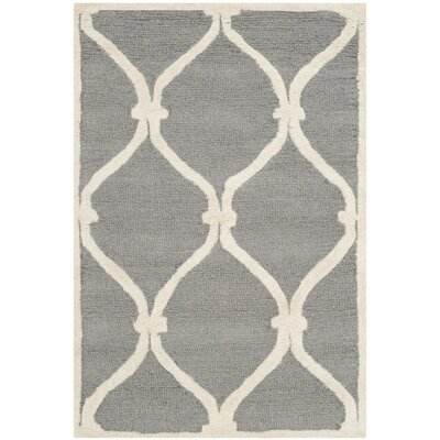 Martins Dark Gray Area Rug Rug Size: 26 x 4
