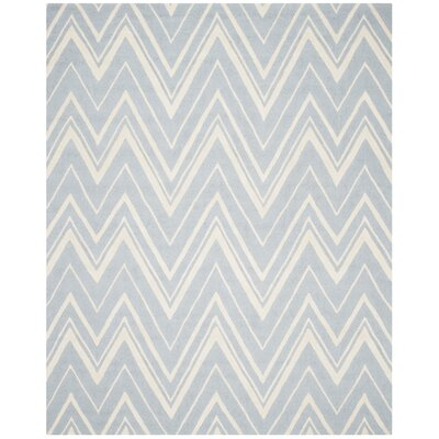 Martins Hand-Tufted Wool Blue/Ivory Indoor/Outdoor Area Rug Rug Size: Rectangle 9 x 12