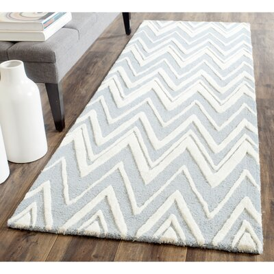 Martins Blue Area Rug Rug Size: Runner 26 x 8
