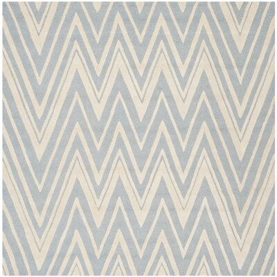 Martins Hand-Tufted Wool Blue/Ivory Indoor/Outdoor Area Rug Rug Size: Square 8