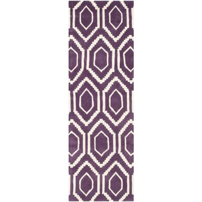Wilkin Purple Rug Rug Size: Runner 2'3