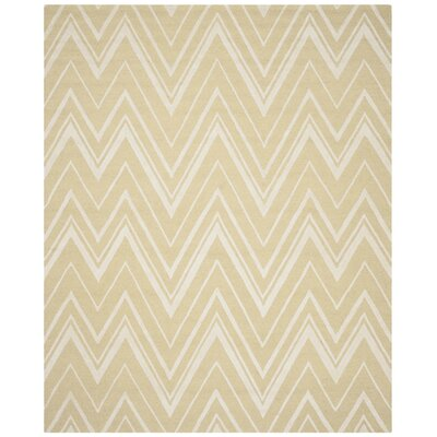 Martins Hand-Tufted Light Gold/Ivory Area Rug Rug Size: Rectangle 8 x 10