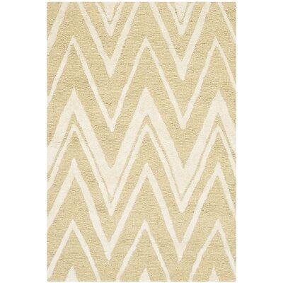 Martins Light Gold/Ivory Area Rug Rug Size: 4 x 6