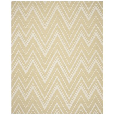 Martins Light Gold/Ivory Area Rug Rug Size: 8 x 10