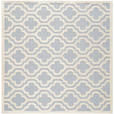 Martins Light Blue/Ivory Area Rug Rug Size: Square 6