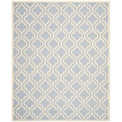 Martins Light Blue/Ivory Area Rug Rug Size: 10 x 14