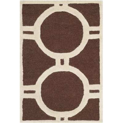 Martins Hand-Tufted Wool Dark Brown Area Rug Rug Size: Rectangle 3 x 5