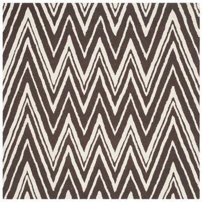 Martins Hand-Tufted Brown Area Rug Rug Size: Square 6
