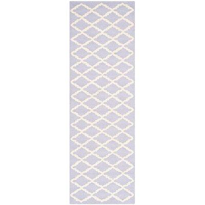 Charlenne Lavender & Ivory Area Rug Rug Size: Runner 26 x 8