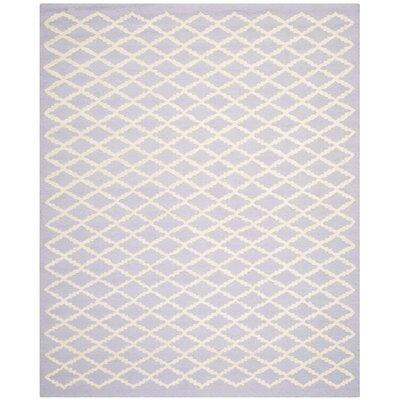 Charlenne Lavender & Ivory Area Rug Rug Size: 6 x 9