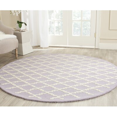 Charlenne Lavender & Ivory Area Rug Rug Size: Rectangle 6 x 9