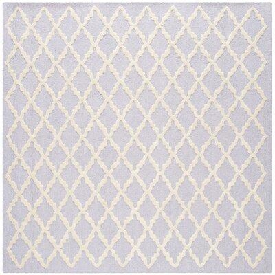 Charlenne Lavender & Ivory Area Rug Rug Size: Square 6