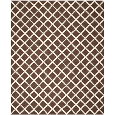Martins Hand-Tufted Wool Dark Brown Area Rug Rug Size: Rectangle 9 x 12
