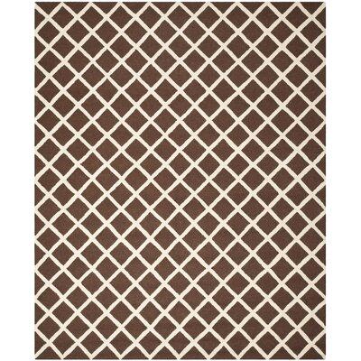 Martins Dark Brown Area Rug Rug Size: 5 x 8