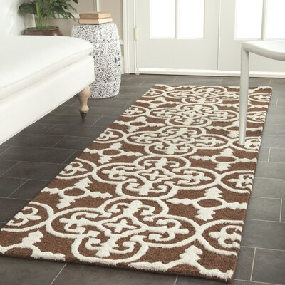 Marlen Dark Brown Area Rug Rug Size: Runner 26 x 12