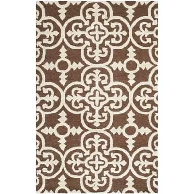 Marlen Dark Brown Area Rug Rug Size: Rectangle 9 x 12